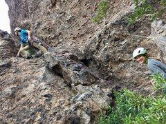 Rock Climbing Photo: Pitch 1 Gully