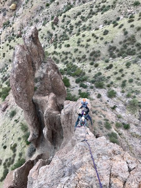Rock Climbing Photo: Chicken Ledge belay