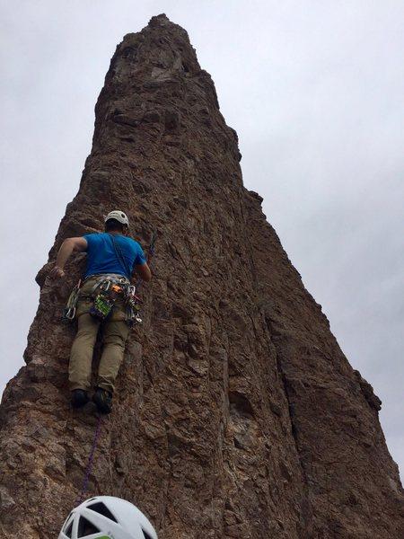 Rock Climbing Photo: Start of pitch 3