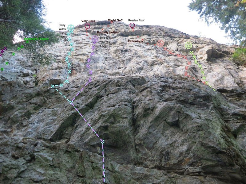 Topo overlay of Diablo Wall