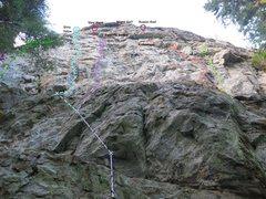 Rock Climbing Photo: Topo overlay of Diablo Wall