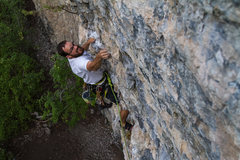 Rock Climbing Photo: Burning through the roof section of Crankenstein. ...