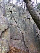 Rock Climbing Photo: Climb crack to top.