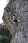 Rock Climbing Photo: Starting into the crux