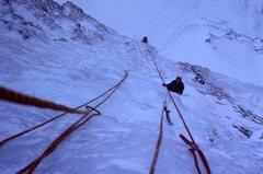 Rock Climbing Photo: first ascent - Tim Friesen pitch 1