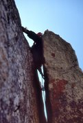 "Rock Climbing Photo: Elliott Robinson leads the FA of the ""Thrill ..."
