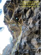 Rock Climbing Photo: Topo of the steep lines from the right.