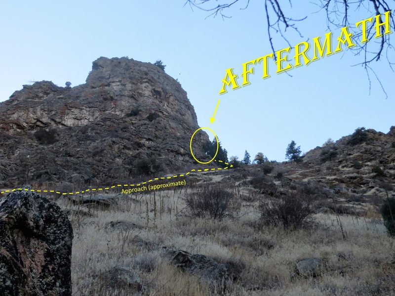 Rock Climbing Photo: The first view of the crag form the approach trail...