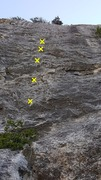 Rock Climbing Photo: Bolts
