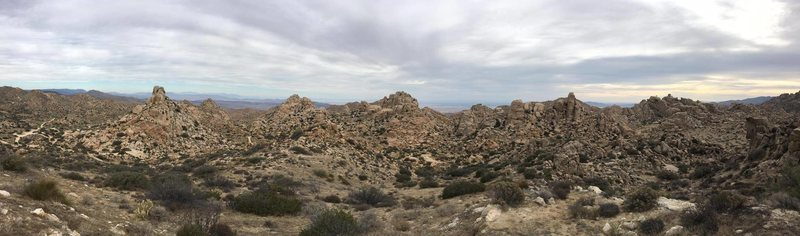 Pano of the Valley of the Moon as viewed from the mines.