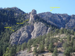 Rock Climbing Photo: Front Porch, Back Porch, and the South Summit of G...