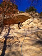 Rock Climbing Photo: I think that's me climbing the route before I ...