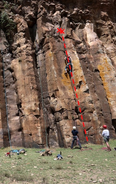 Rock Climbing Photo: Leading Stake 4.5