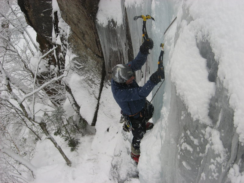 Rock Climbing Photo: On Penguin, P2 (photo by M. Chauvin)