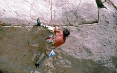Rock Climbing Photo: Dick Cilley on the FA