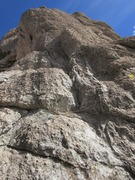 Rock Climbing Photo: Looking up 2 pitches from the start, though I shou...