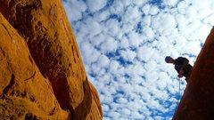Rock Climbing Photo: Contemplating the jump to the highest sailor.