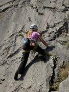 Rock Climbing Photo: Hard part coming up on Cidokor