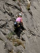 Rock Climbing Photo: Following the cracky weaknesses of Tičica