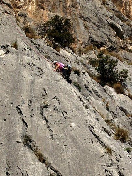 Rock Climbing Photo: High on Hobotnica
