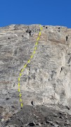 Rock Climbing Photo: This route climbs the sport line to the left of th...