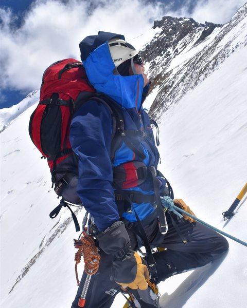 Rock Climbing Photo: Attempting a new route on Cerro Mercedario