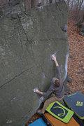 Rock Climbing Photo: Dan Sepp catching the crimp rail