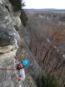 Rock Climbing Photo: Terry, from Austin TX, enjoying the second ascent,...