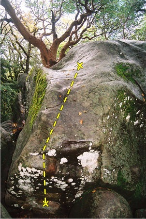 A--hole Arete.<br> <br> Note that this was taken on a wet day many years ago. It&#39;s not this mossy any longer...