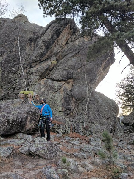 Rock Climbing Photo: Finishing up a day of climbing at the Black Hills,...