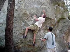 Rock Climbing Photo: Mike Deitchman (myself) on Hexcentric circa 2001. ...