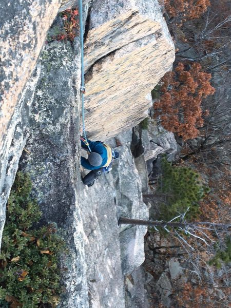 Rock Climbing Photo: cold fall climbing.