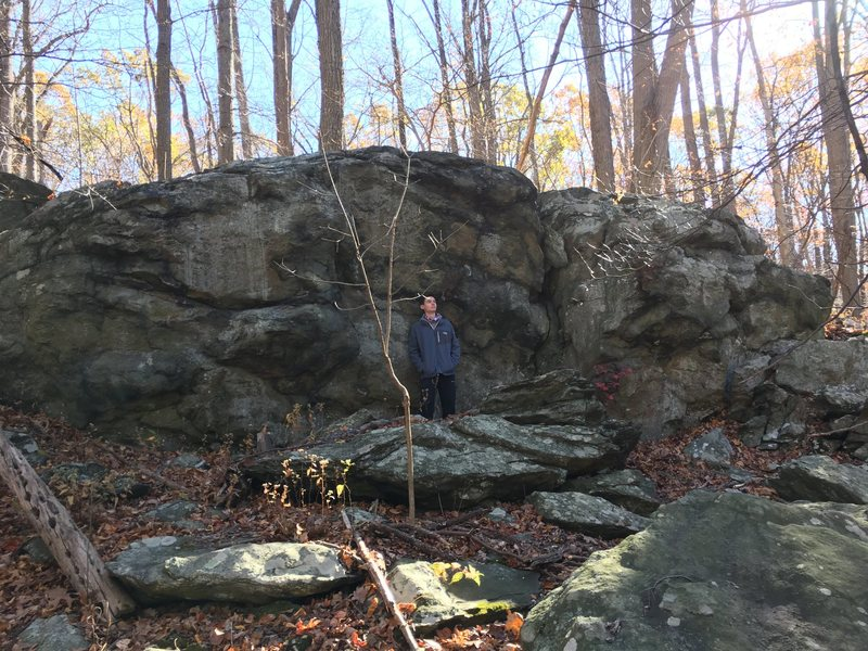 The Lump of Coal Boulder at the Charcoal Exhibit Boulders Area<br> Catoctin Mountain Park, Maryland