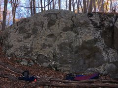 Rock Climbing Photo: Left side of the Charcoal Exhibition Boulder at th...