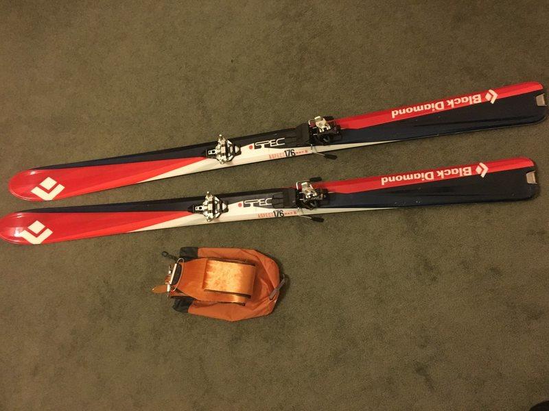 Skis and skins