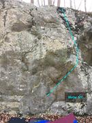 Rock Climbing Photo: Mortar (V1) at the Charcoal Exhibition Boulder Cha...