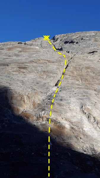 Rock Climbing Photo: Follow this crack all the way to the top of the cl...