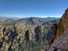 Rock Climbing Photo: 5th pitch traverse on Wasteland