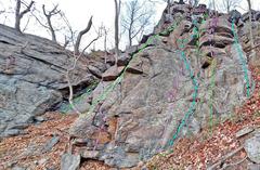 Rock Climbing Photo: Romance Novels - Right (SE) side:  . Q. (Adventure...