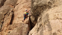 Rock Climbing Photo: Totally Blonde-Cactus Cliff-Shelf Road