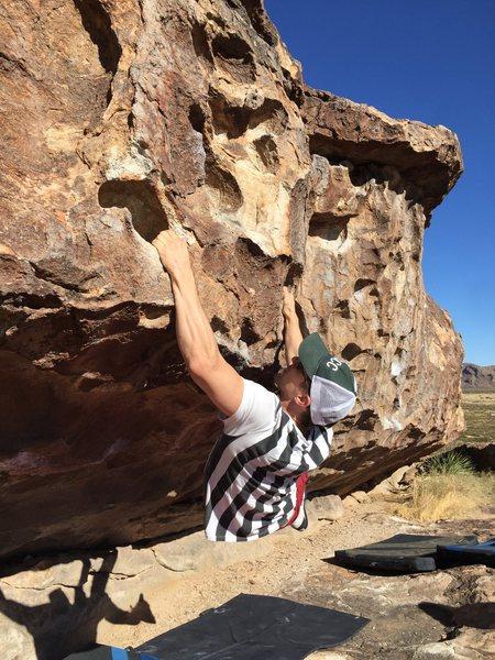 Rock Climbing Photo: Brad warming up on Tiger Beat