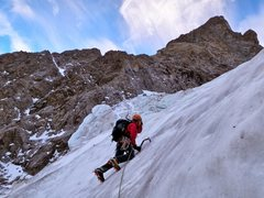 Rock Climbing Photo: October ascent, there was barely any snow on the r...