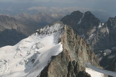 Rock Climbing Photo: Aerial view of Barres Des Ecrins and Dome de Neige...