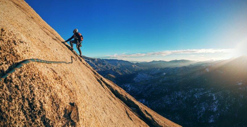 Rock Climbing Photo: start of P5