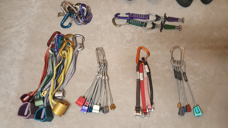 Rock Climbing Photo: Overview of gear available now