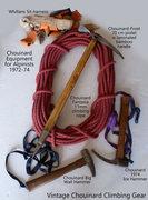 Vintage Chouinard climbing gear