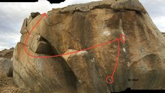 Rock Climbing Photo: Nessy Traverse: Sit start. Begin with Left hand on...