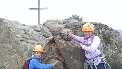 Rock Climbing Photo: We made it!  Not an easy day for the little ones.
