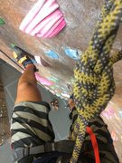 Rock Climbing Photo: Partner cheesing after I clipped the anchor on my ...