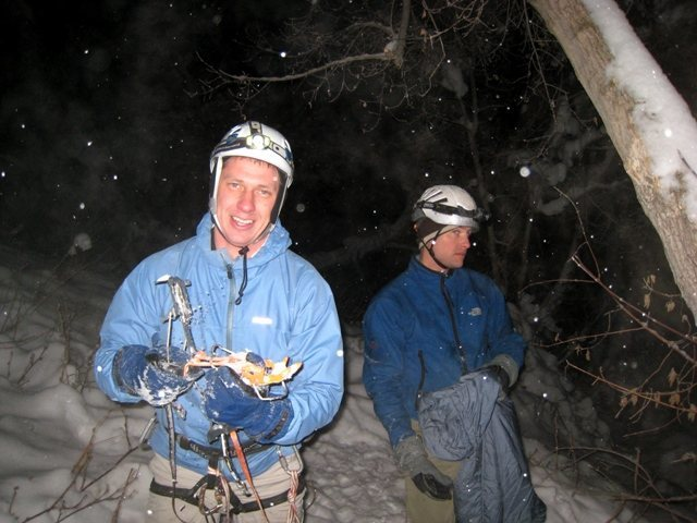 Rock Climbing Photo: Paintrain at 9:30pm on the GWI wondering if his pr...